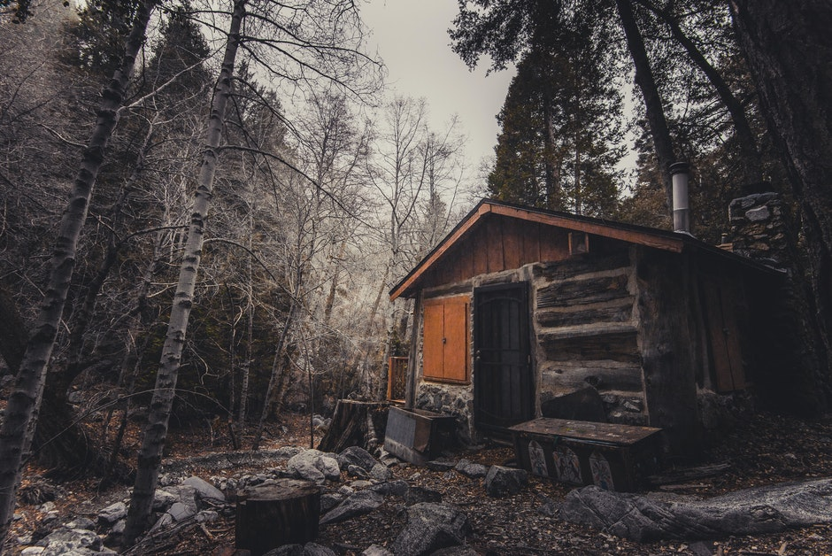 abandoned, broken, cabin