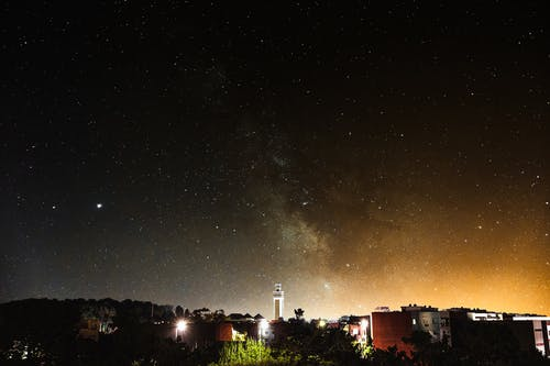 Free stock photo of apartment buildings, astrology, astronomy, bright stars