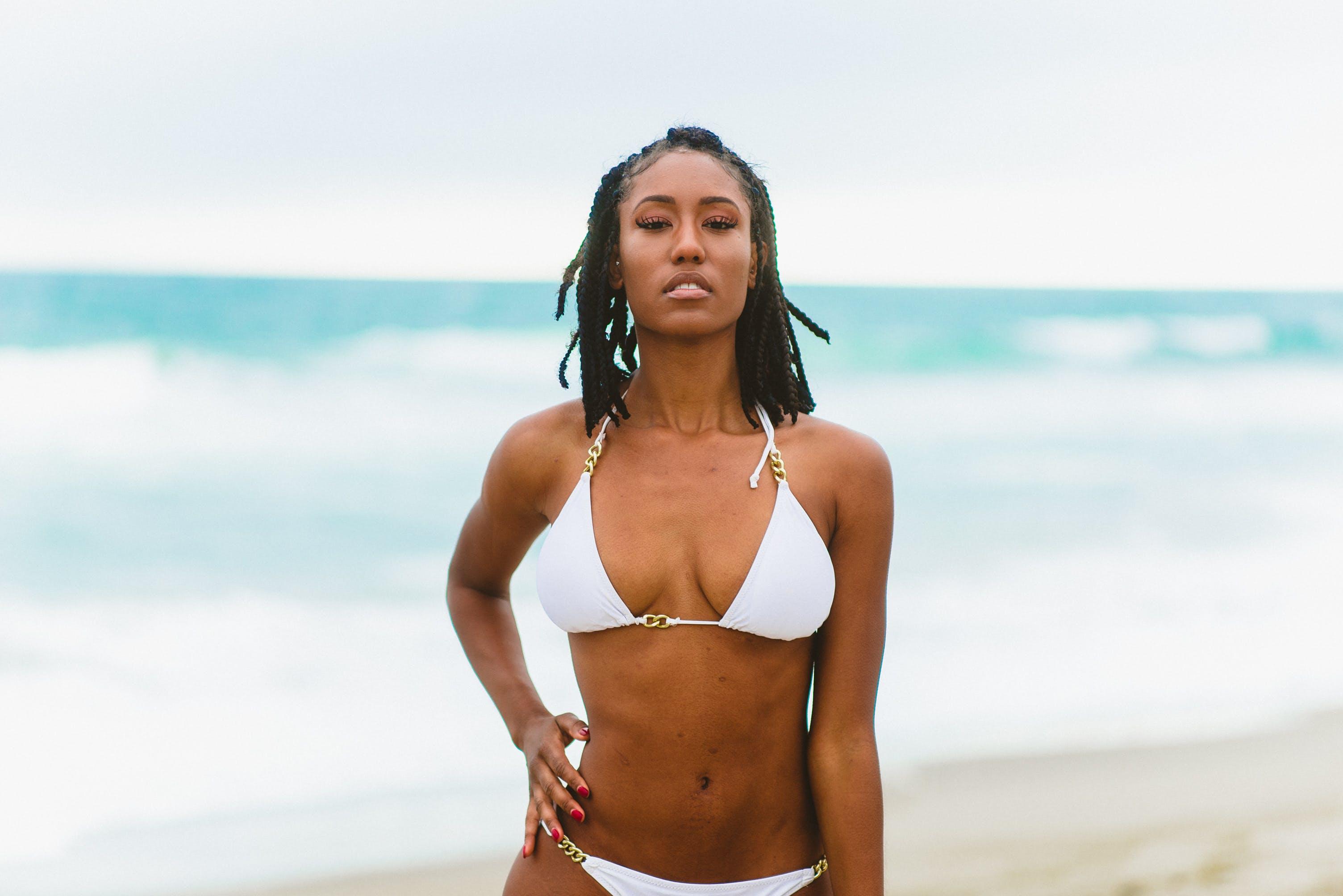badeanzug, bikini, dame