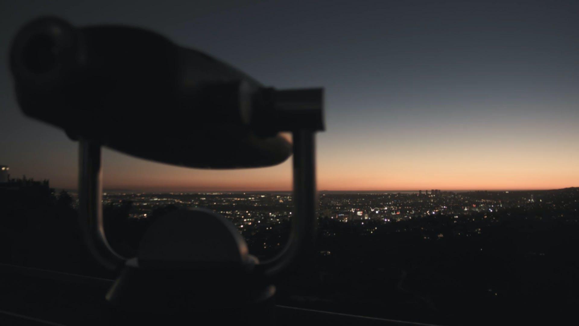 city lights, city view, dawn