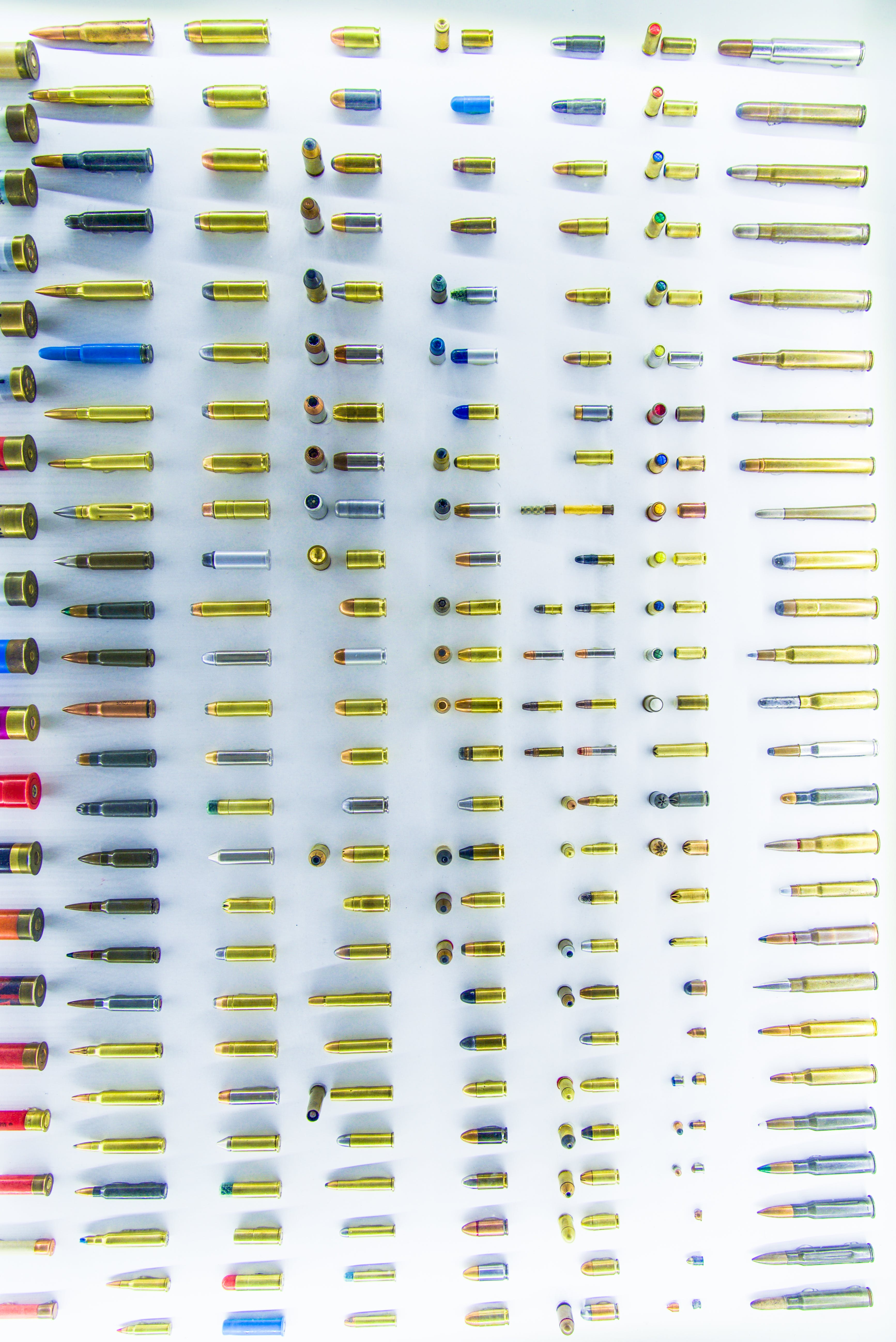 Bullet Collection on White Surface