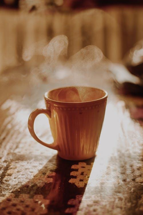 Gratis arkivbilde med amarelo, café da manhã, calor, cappuccino