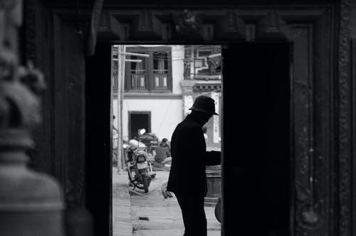 Free stock photo of black and white, Golden Temple, kathmandu