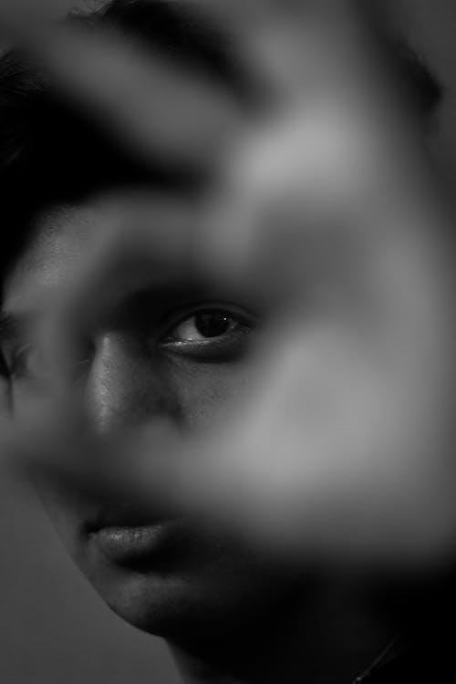 Free stock photo of black and white, black and white portrait, eyes, monochrome