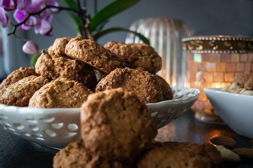 Brown Cookies on White Ceramic Bowl