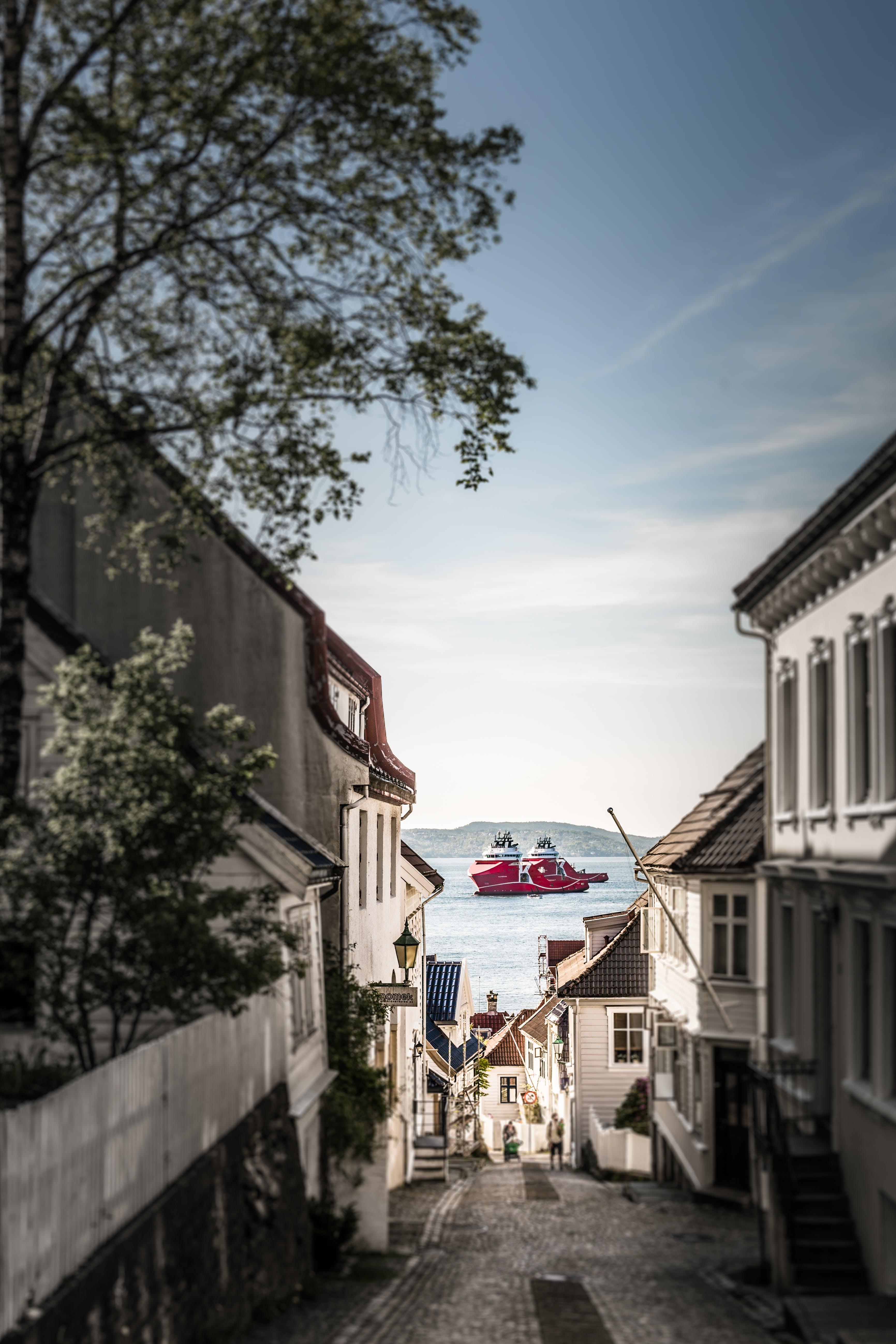 Kostenloses Stock Foto zu bergen, bergen norwegen, blau, blauer himmel