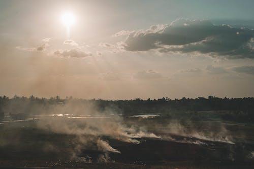 Ingyenes stockfotó alkonyat, füst, naplemente, napnyugta témában