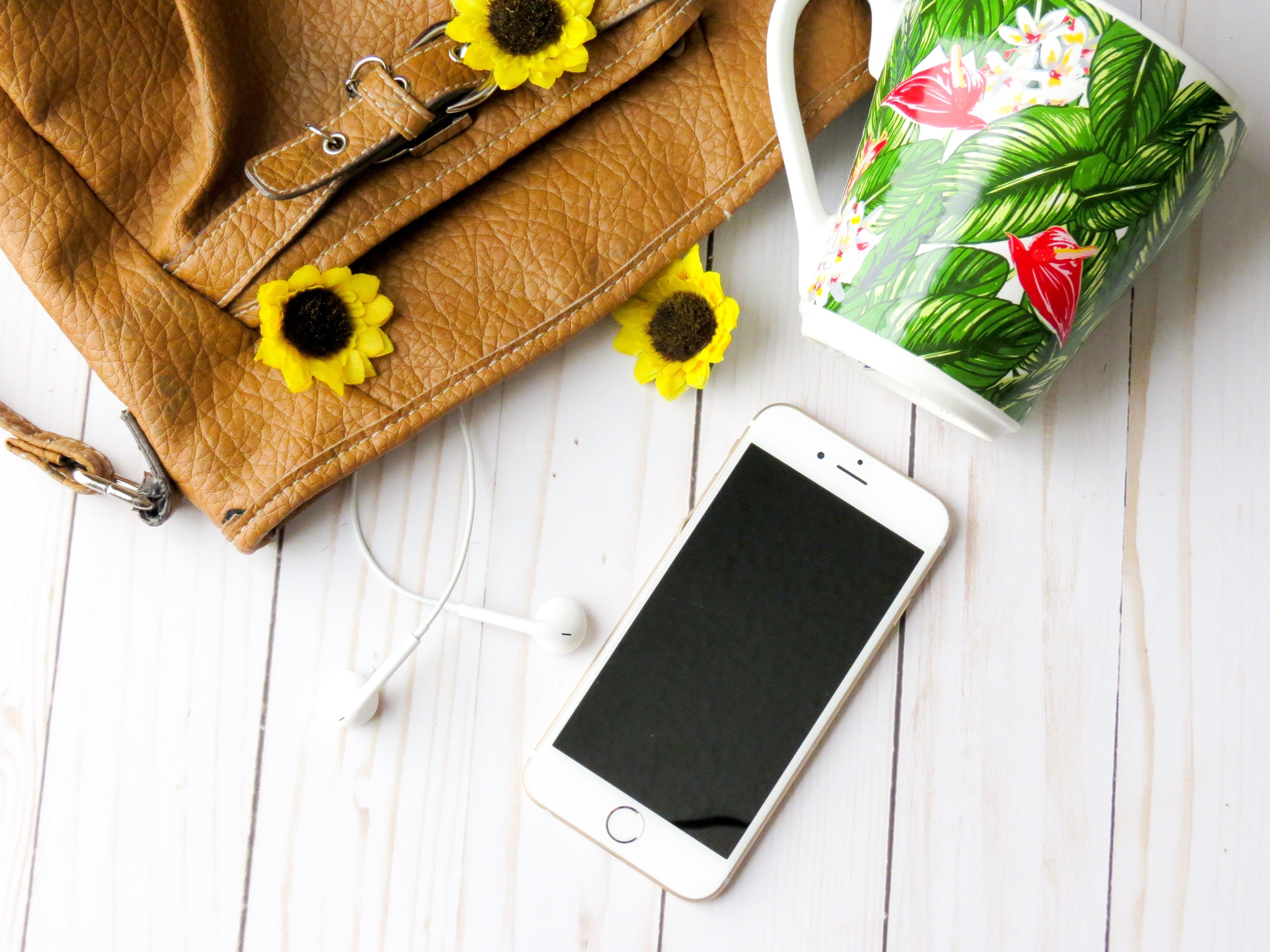 background, bag, beautiful flowers