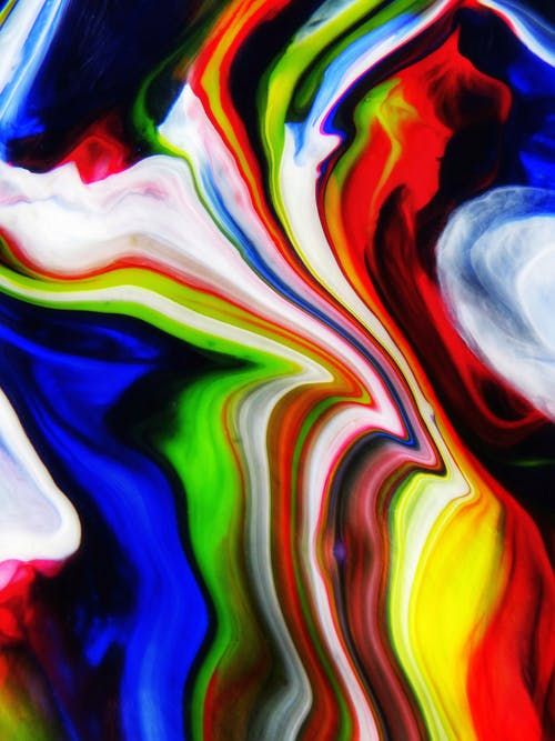 Red Yellow Blue and Green Abstract Painting