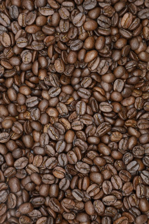 Overhead Shot of a Pile of Roasted Coffee Beans