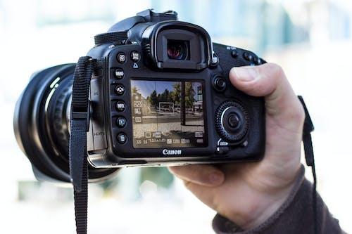 Free stock photo of camera, camera equipment, canon