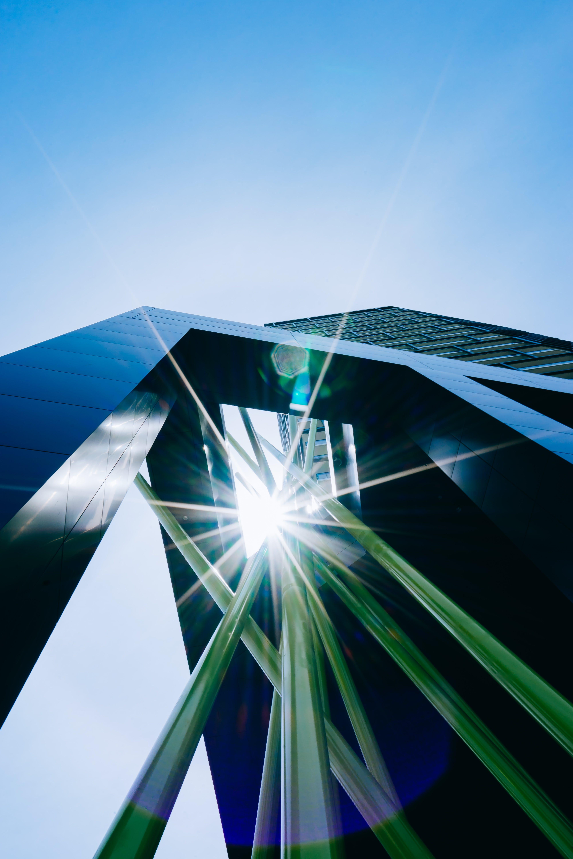 Ingyenes stockfotó alacsony szögű felvétel, ég, építészeti terv, épület témában
