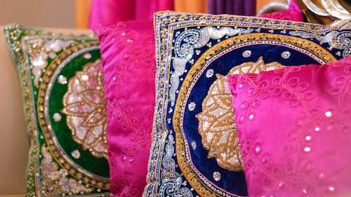 Immagine gratuita di arredamento, colori dell'india, cuscini, decorazione