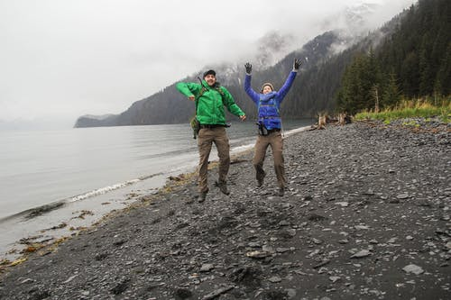 Free stock photo of alaska, beach, couple