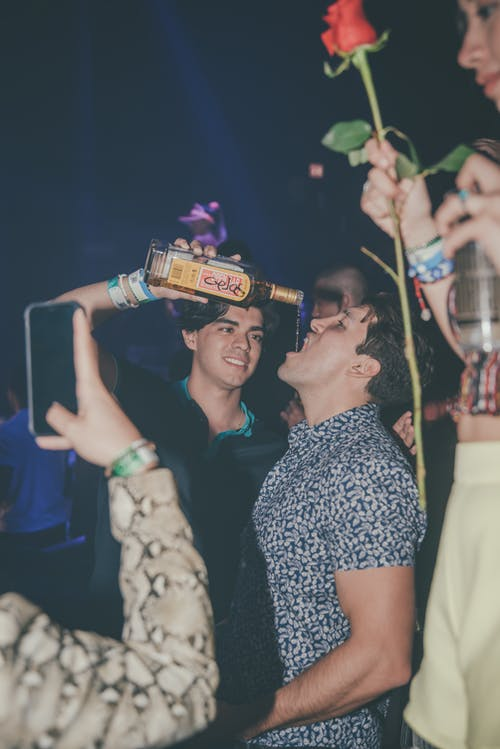 Free stock photo of alcohol, best friends, club, flash