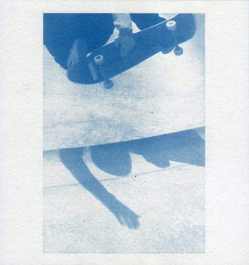 Free stock photo of Cyanotype