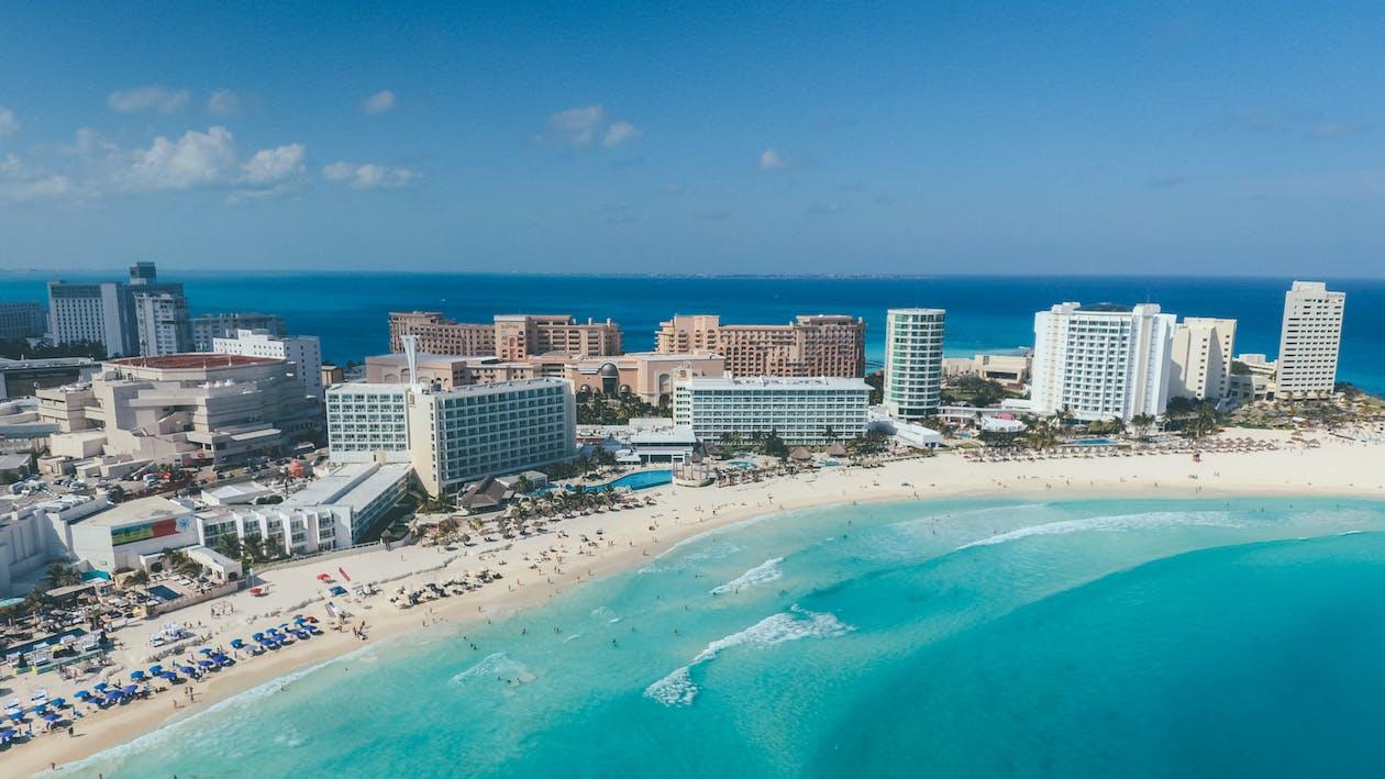 An Aerial Shot of a Beautiful Beach