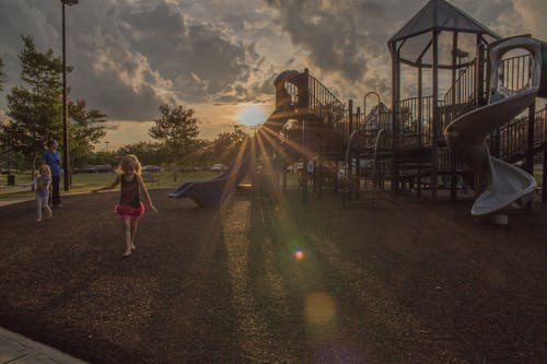 Free stock photo of carolina, playground, sunset