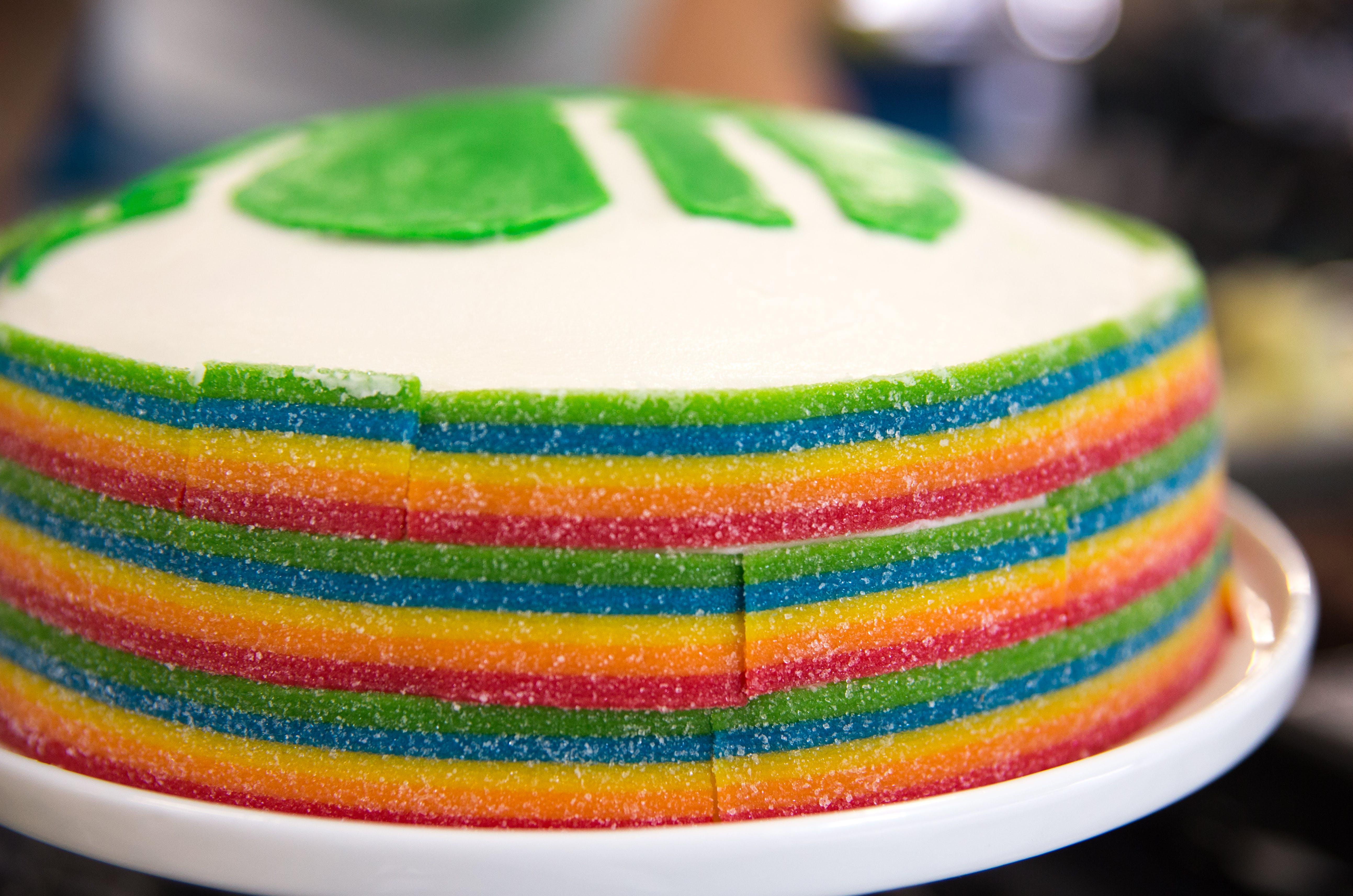Free stock photo of cake, colorful, diy, rainbow