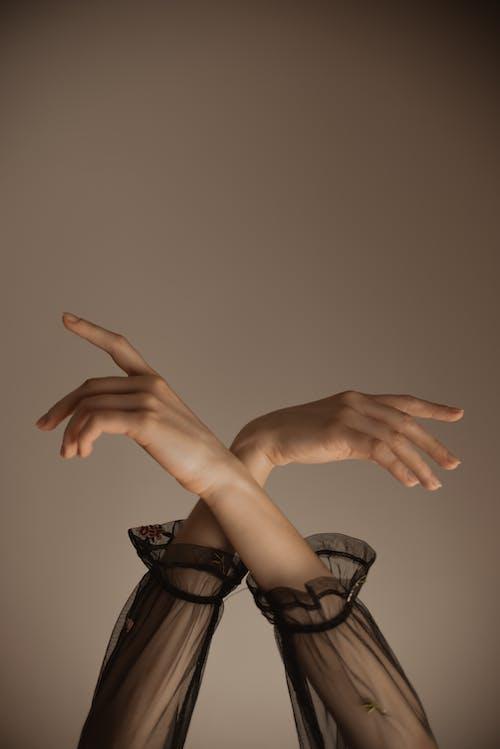 Hands of graceful dancing woman