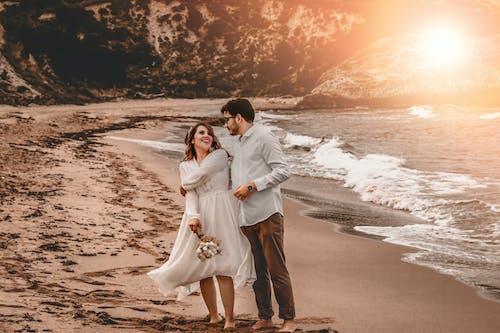 Free stock photo of beachwedding, damat, düğün