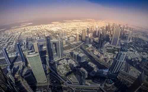 Free stock photo of aerial, burj khalifa, dubai