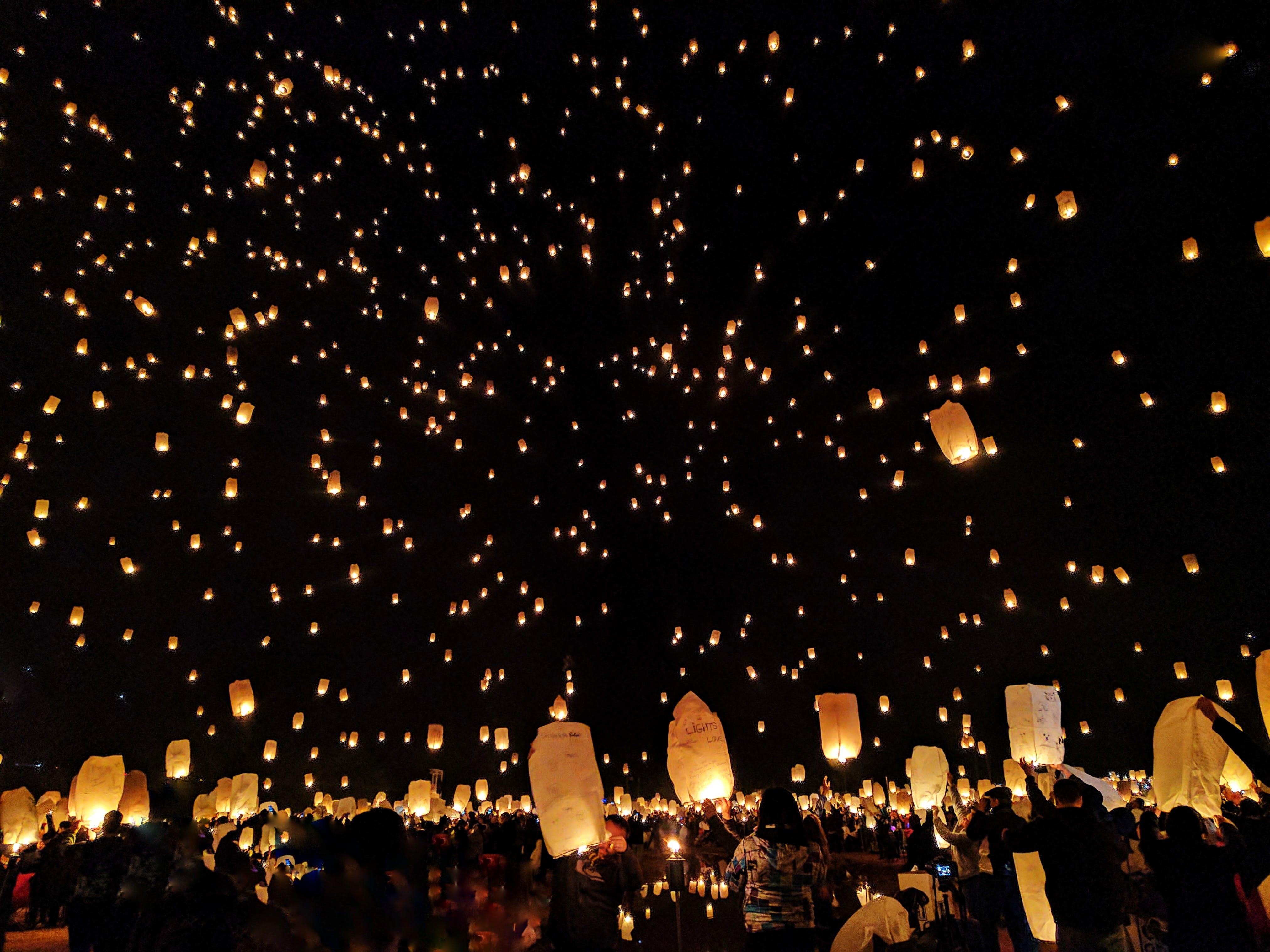 Kostenloses Stock Foto zu beleuchtet, beleuchtung, diwali, dunkel