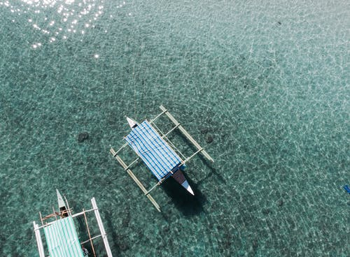 Free stock photo of boat, drone, green