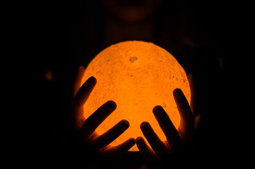 Free stock photo of bokeh, hands, moon