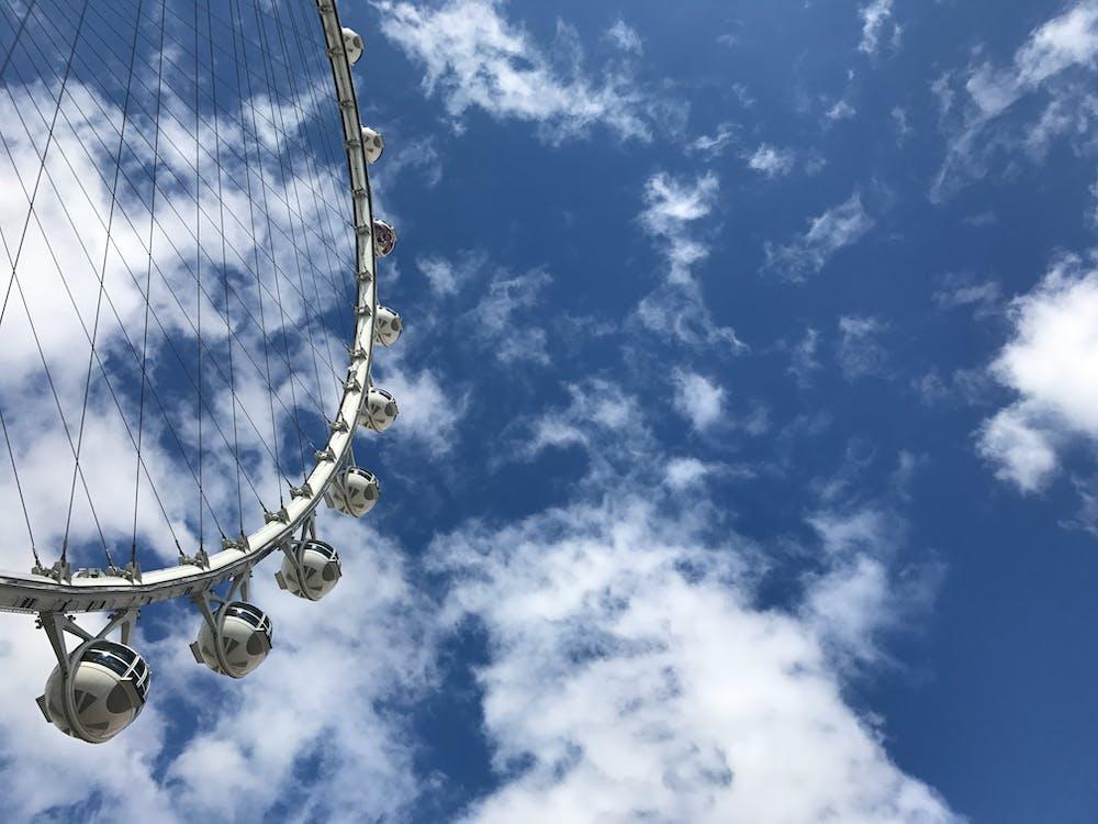 cielo, foto de ángulo bajo, noria