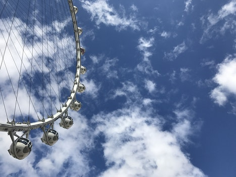 Free stock photo of sky, clouds, ferris wheel, perspective