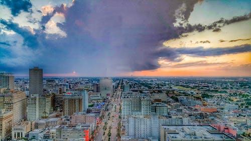 Free stock photo of buildings, city, evening sky
