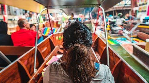 Free stock photo of boat, floating market