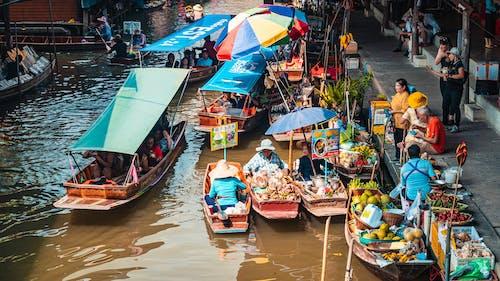 Fotos de stock gratuitas de Bangkok, mercado flotante
