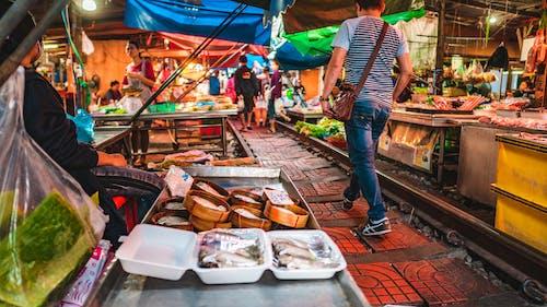 Free stock photo of railway market