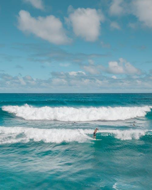Základová fotografie zdarma na téma mávání, modrá, oahu