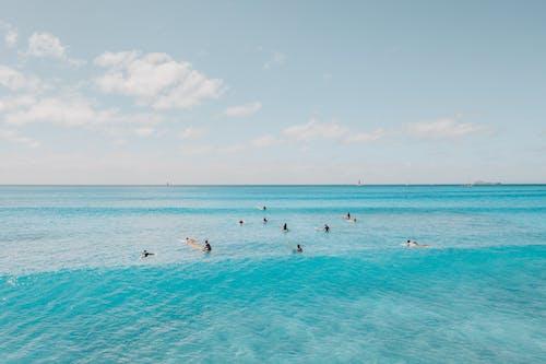 Základová fotografie zdarma na téma mávání, modrá, obloha
