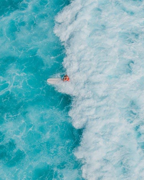 Foto profissional grátis de azul, cena de surf, litoral