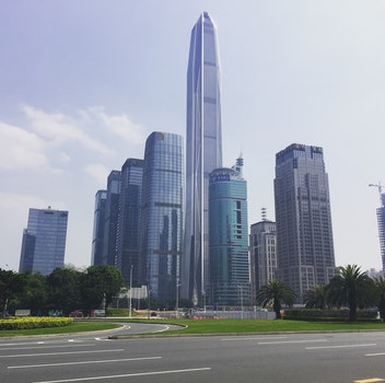 Free stock photo of city, road, sky, street