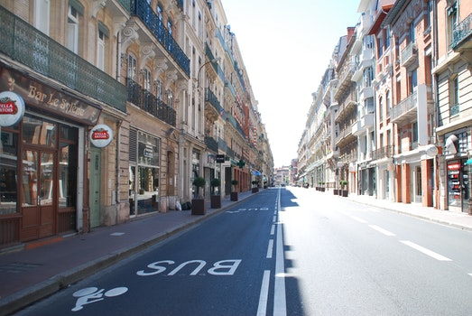Free stock photo of road, france, street, avenue
