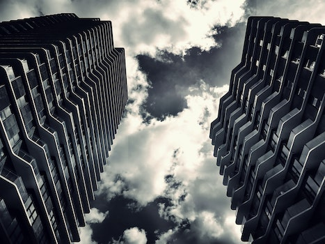 Free stock photo of sky, clouds, buildings, glass