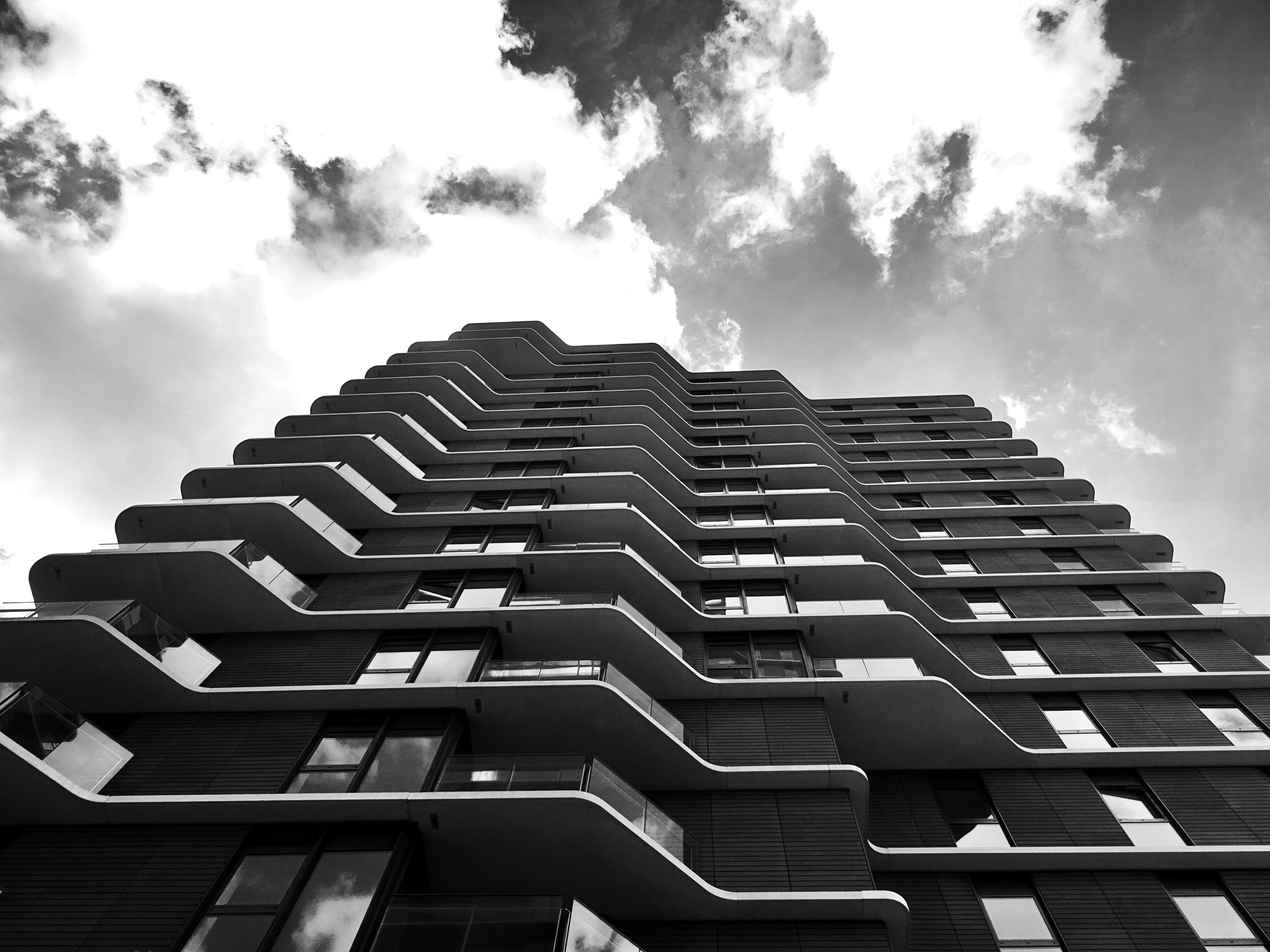 Free stock photo of black-and-white, building, architecture, skyscraper