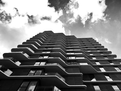 Základová fotografie zdarma na téma architektura, budova, černobílý, jednobarevný
