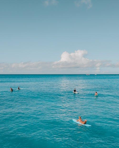 Darmowe zdjęcie z galerii z fale, fotografia surfowania, fotografia z drona