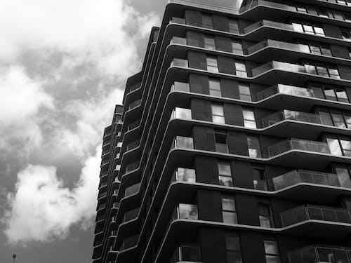 คลังภาพถ่ายฟรี ของ ขาวดำ, ตึกระฟ้า, มุมมอง, สถาปัตยกรรม