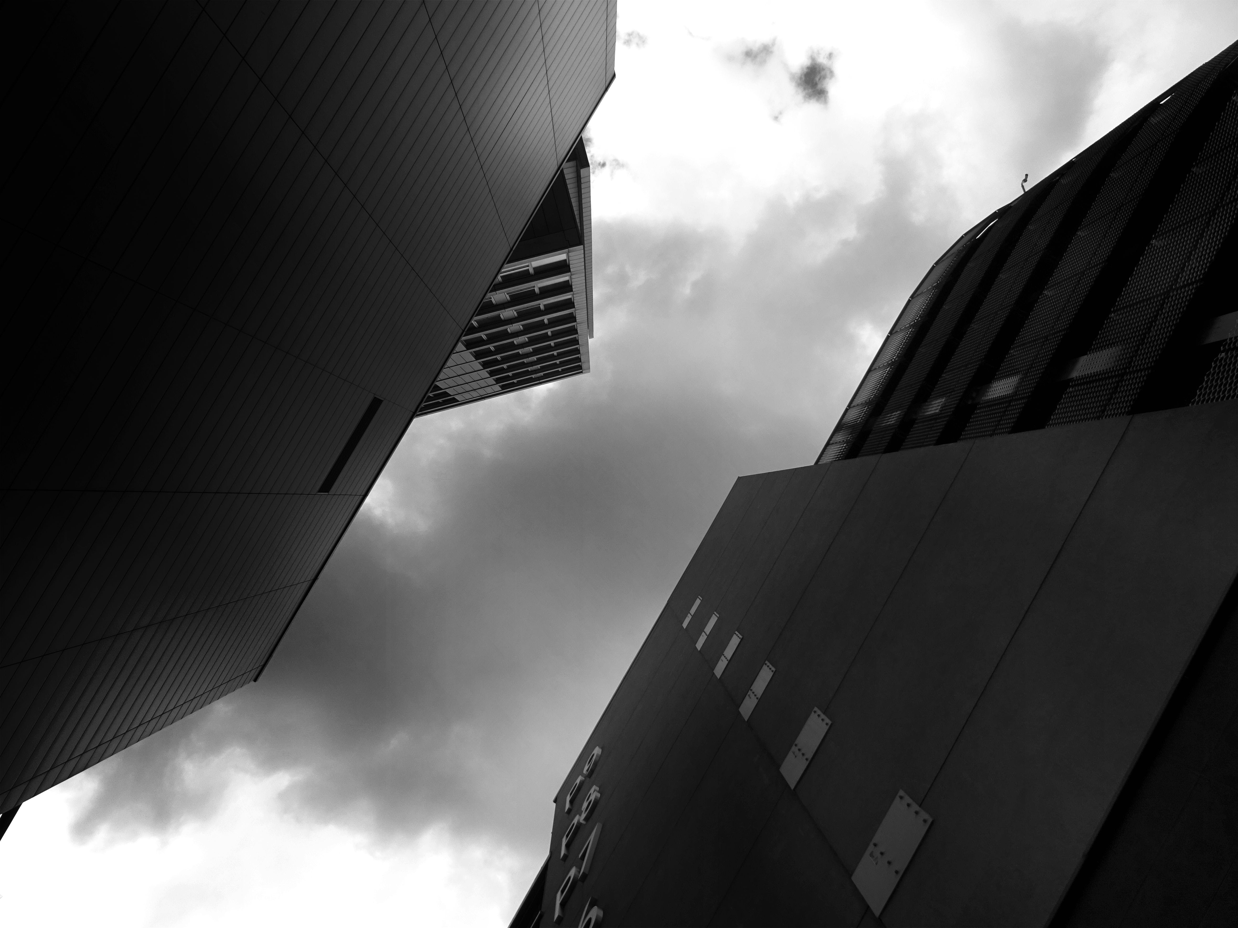 High Rise Buildings Under Gray Cloudy Sky