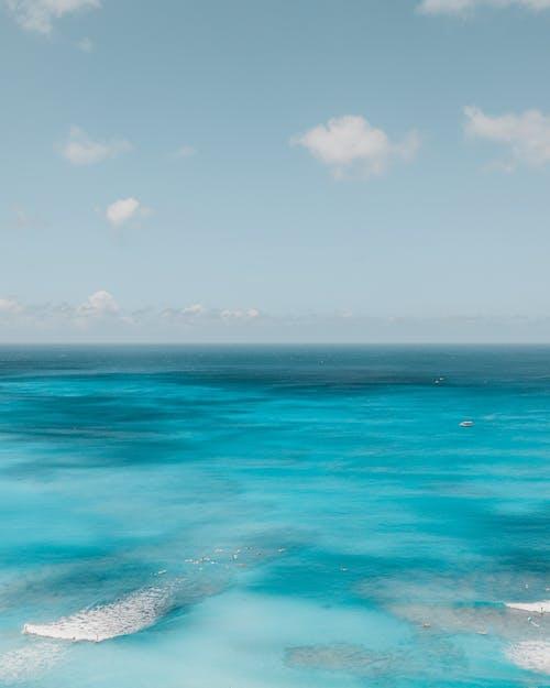 Blue Ocean Under Blue Sky