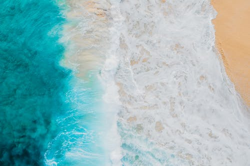 Free stock photo of aerial footage, aerial photography, beach, beautiful