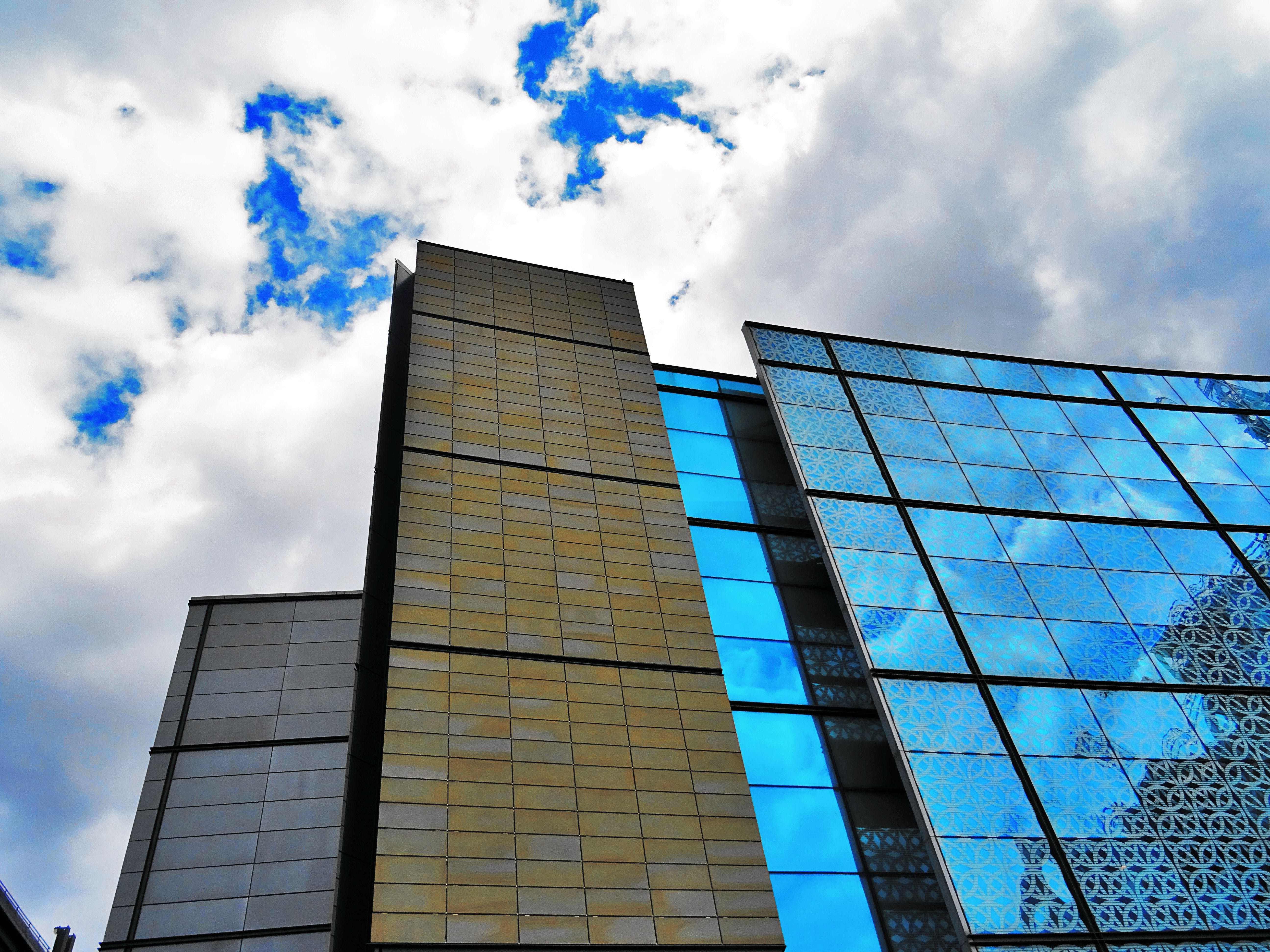 High-rise Building With Mirror Wall