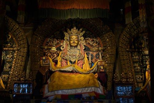 Golden Buddha statue in Erdene Zuu Monastery in Mongolia